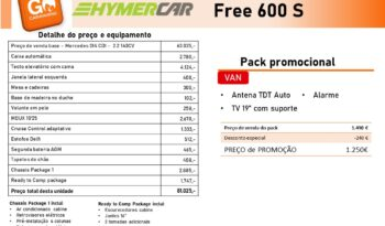 HYMERCAR, FREE 600 S cheio