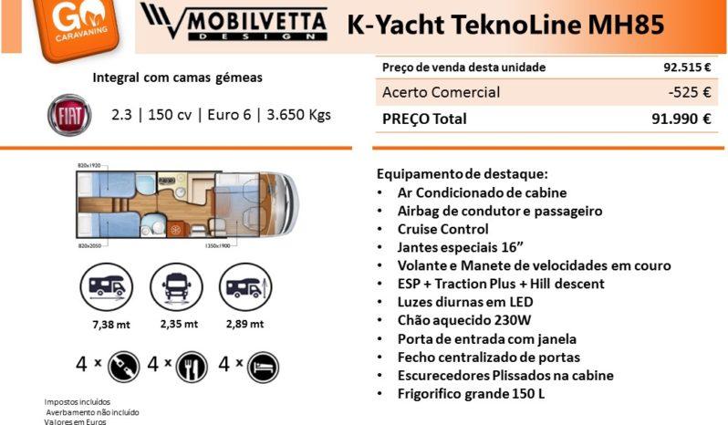 MOBILVETTA, K-YACHT 85 TK cheio
