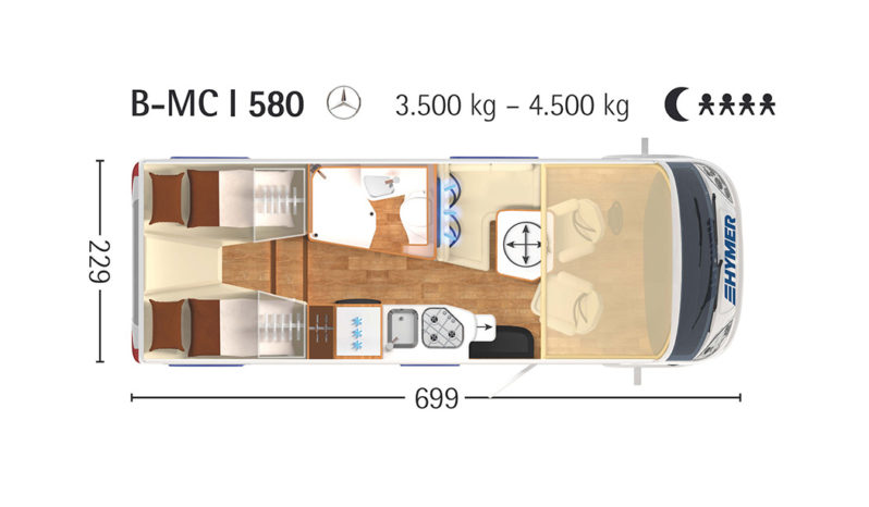 HYMER, BMC-i 580 cheio