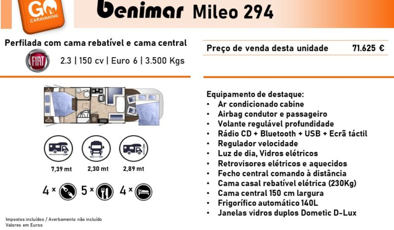 BENIMAR, Mileo 294 cheio