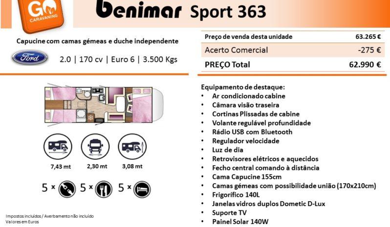 BENIMAR, Sport 363 cheio