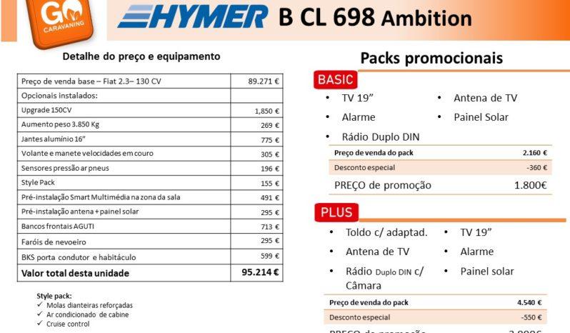 HYMER, B698 CL cheio