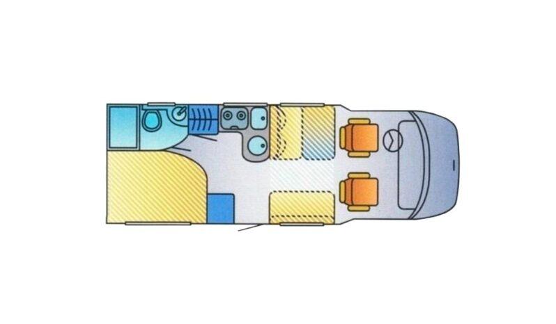 HYMER, T 654SL cheio