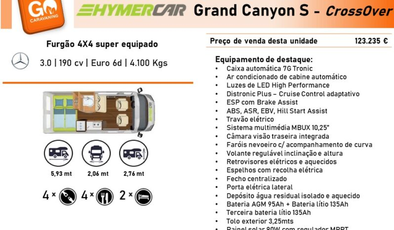 HYMERCAR, Grand Canyon S cheio