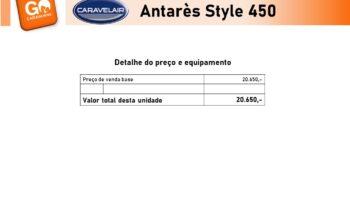 CARAVELAIR, ANTARES Style 450 cheio